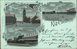 Hungary Kis-Czellbot Kisczellbot RR Train Station Used 1900 Pozsony Postcard