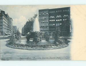 Pre-1907 CAPITOL SQUARE FOUNTAIN Detroit Michigan MI r7562