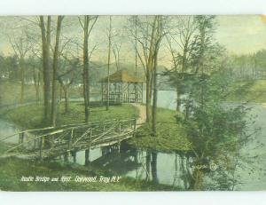 Divided-Back BRIDGE SCENE Troy New York NY HJ1675