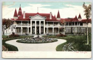 St Joseph Missouri~Long Porches, Pillars & Pointy Towers @ The Lotus Club~c1905