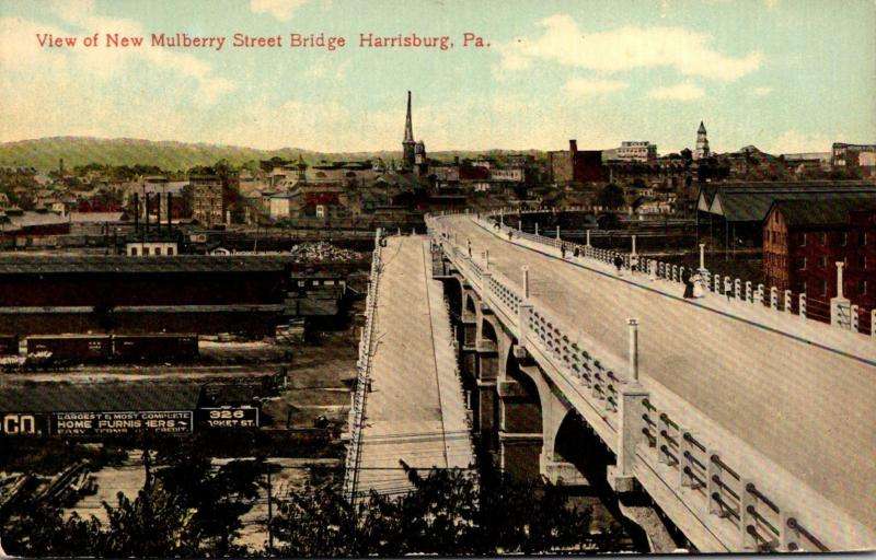 Pennsylvania Harrisburg View Of New Mulberry Street Bridge