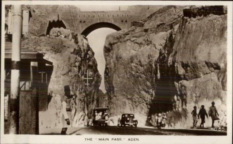 Aden Yemen The Main Pass Real Photo Postcard