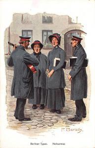 Signed F. Bersch Germany Berliner Typen Heilsarmee Postcard