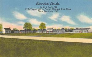 Trappe Maryland Riverview Courts Vintage Postcard JB626107