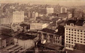 Birds Eye View Of Business Section, Seattle, Washington, PU-1911