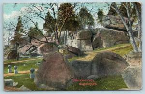 Postcard PA Gettysburg Battlefield Devil's Den 1913 View I24