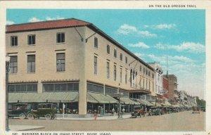 BOISE, Idaho, 1900-10s ; Business Block on Idaho St., Old Oregon Trail