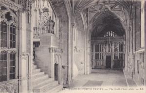 CHRISTCHURCH, UK , 1900-1910´s; The South Choir Aisle, Christchurch Priory