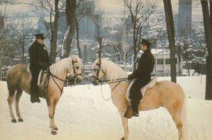 MONTREAL , Quebec Canada , 1950-70s 2 Mounted Policemen
