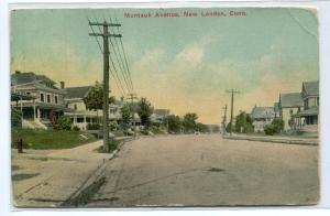 Montauk Avenue New London Connecticut 1910 postcard