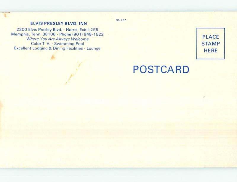 1970's ELVIS PRESLEY BOULEVARD INN MOTEL Memphis Tennessee TN AE0283