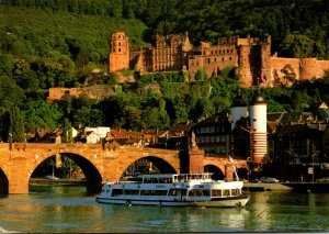 Germany Heidelberg Old Bridge and Castle