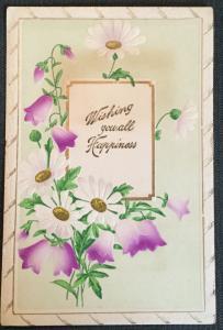 "Postcard Unused Embossed w/writing on back ""Wishing you...."" LB"