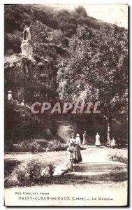 Old Postcard Saint-Alban-les-Eaux Madonna