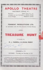 Treasure Hunt Apollo John Perry Ireland Play London Theatre Programme
