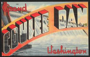 Greetings from Grand Coulee Dam Washington Unused c1940s