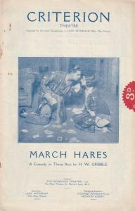 March Hares Leslie Banks Criterion London Theatre Programme