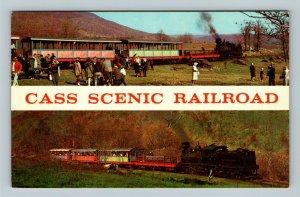 Scenic Railroad, Steam Engine, Bald Knob, Cass West Virginia Vintage Postcard