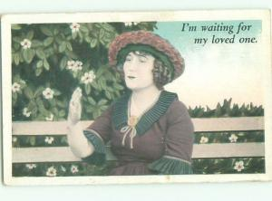 Divided-Back PRETTY WOMAN Risque Interest Postcard AA8023