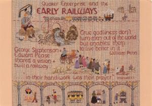 Postcard The Quaker Tapestry, Early Railways, Panel D7 #655