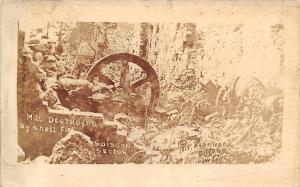 Soisson Aisne France~WWI Mill Destroyed by Shell Fire~RPPC 1919 Crayne Lippicott