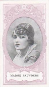 Wills SCISSORS Cigarette Card Cinema Stars No 15 Madge Saunders
