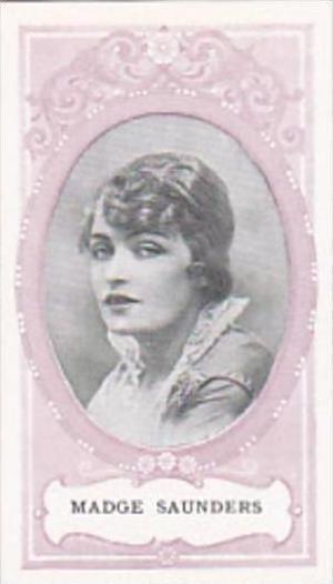 Wills SCISSORS Cigarette Card Cinema Stars No 15 Madge Saunders