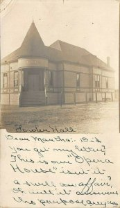 LP97 Fowler California Postcard RPPC Opera House
