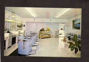 IN D & J Barber Shop Plainfield Indiana Postcard Dick Inman Johnny Brock Poles