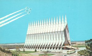 U.S. Air Force Academy, CO, Cadet Chapel, Chrome Vintage Postcard g9389