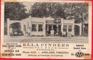 12661 Ella Cinders Tea Room, Standard Gas Station, Ashland, Virginia