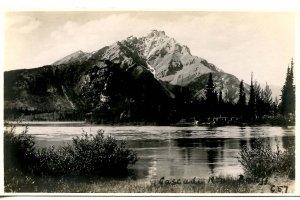 Canada - Alberta, Banff. Cascade Mountain.   *RPPC