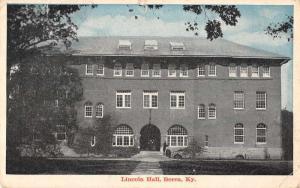 Berea Kentucky birds eye view Lincoln Hall entrance antique pc Y10842