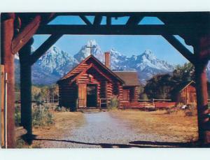 Unused Pre-1980 CHURCH SCENE Moose Wyoming WY p3547@