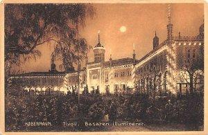 Tivoli Basaren Illumineret Kobenhavn Denmark Unused