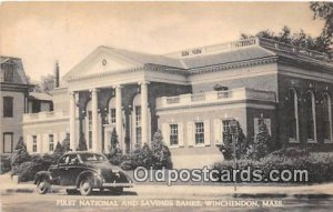 First National & Savings Banks Winchendon, Mass, USA Unused