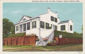 Cherokee, Home of Mr, and Mrs, Charles J.Byrne, Natchez, Mississippi, 30-40s