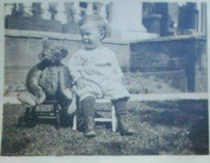 RPPC Postcard Child With Original Steiff Teddy Bear Lakeside Park, Denver