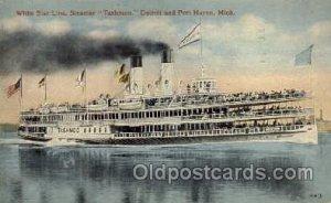 Tashmoo, Detroit and Port Huron, Mich. USA Steam Boat Steamer Ship 1916 very ...