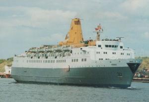 Bergen Line Venus Black Prince Norway Liner Ship Postcard