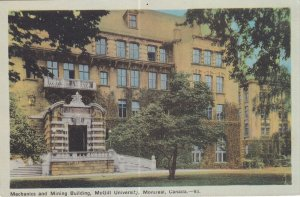MONTREAL, Quebec, Canada, 1900-1910s; Mechanics And Mining Building, McGill U...