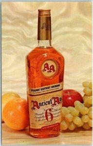 Vintage ANCIENT AGE Kentucky Bourbon Whiskey Postcard Chrome Advertising c1960s