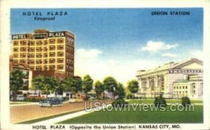 Hotel Plaza and Union Station in Kansas City, Missouri