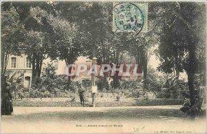 Postcard Old Dax Public Garden and Mayor