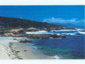 Unused Pre-1980 BEACH SCENE Monterey Bay & Pebble Beach - Near Carmel CA d6363