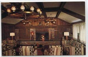 Jawacdah Farms Lounge Interior Batesville Indiana postcard