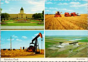Saskatchewan SK Multiview Unused Vintage Postcard D55