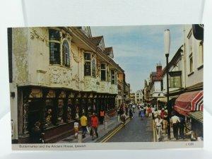 Vintage Postcard Buttermarket  Ipswich Suffolk  1960s