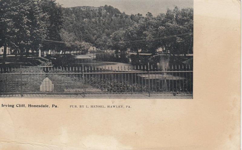 HONESDALE , Pennsylvania, PMC 1898 ; Irving Cliff