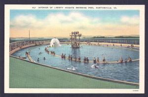 Liberty Heights Swimming Pool Martinsville VA unused c1930's